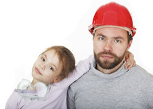 Family Builders. Young assistant. Stock Image