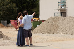 Family building a house - real estate Stock Photo