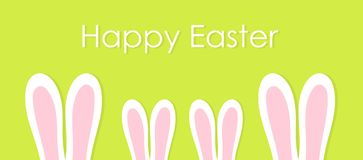 Family of bunnies with long ears. Easter background. Family of bunnies with long ears. Happy Easter background. Vector illustration vector illustration