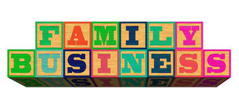Family Business on white background Royalty Free Stock Images