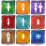 Family Button Set Stock Image