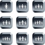 Family buttons Royalty Free Stock Images