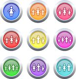 Family buttons Stock Image