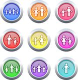 Family buttons Royalty Free Stock Image