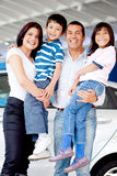 Family buying a car Stock Image