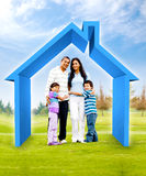 Family buying a house Royalty Free Stock Images