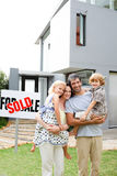 Family buying a house Royalty Free Stock Photos