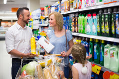Family buying household goods Stock Photography