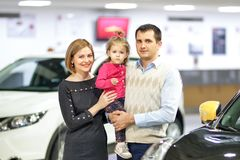 Family buying new car Stock Photography