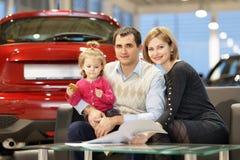 Family buying new car Royalty Free Stock Photo