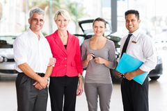 Family buying new car Royalty Free Stock Photos