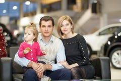 Family buying new car Royalty Free Stock Photos