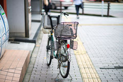 Family Bycycle in Japan. Family bicycle in Kumamoto city, Japan Royalty Free Stock Image