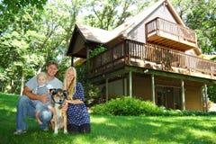 Family at Cabin Royalty Free Stock Photos