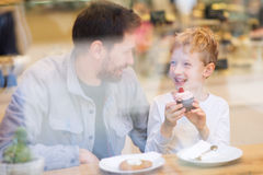 Family in cafe Royalty Free Stock Photo