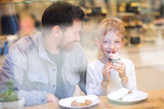 Family in cafe Royalty Free Stock Image