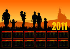 Family calendar 2011 Stock Image