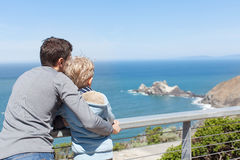 Family in california Royalty Free Stock Photo