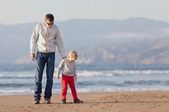 Family at californian beach Royalty Free Stock Photography