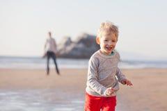 Family at californian beach Stock Photography