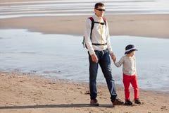 Family at californian beach Stock Photo