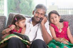 Family calling phone Stock Photo