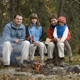 Family in camp Royalty Free Stock Images