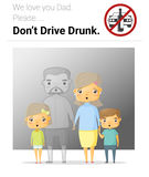 Family campaign daddy don't drive drunk Stock Images