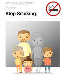 Family campaign mommy stop smoking Stock Image