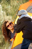 Family Camping Stock Photography