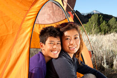 Family Camping Royalty Free Stock Photos