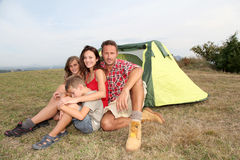 Family camping Royalty Free Stock Photo