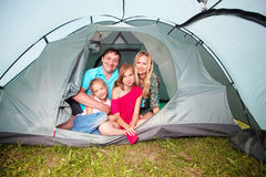 Family at camping Royalty Free Stock Photo