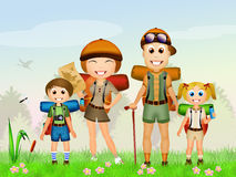 Family camping Stock Images