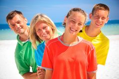 Family in Cancun Royalty Free Stock Photography