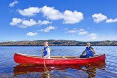 Family canoe trip Royalty Free Stock Photography