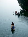 Family canoe trip Royalty Free Stock Photography