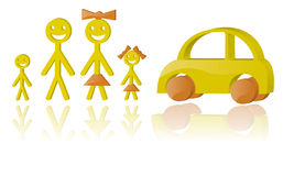 Family and car Stock Photography