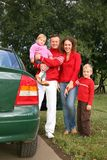 Family and car Stock Photos