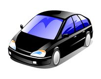 Family Car. 2D illustration of a spacious family car Stock Images