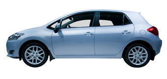 Family car. Family hatchback car isolated on white Stock Photography