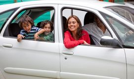 Family in a car Royalty Free Stock Photography