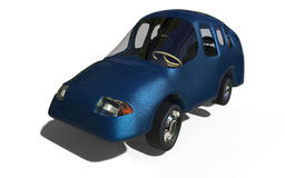 Family car. 3d render of a family car based on child's drawing Royalty Free Stock Photography