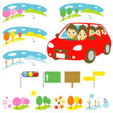 FAMILY in a car, driving Royalty Free Stock Image