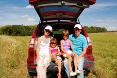 Family car trip Stock Photography