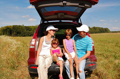 Family car trip Royalty Free Stock Image