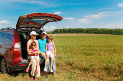 Family car trip Stock Photo