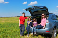 Family car trip on summer vacation Royalty Free Stock Photography