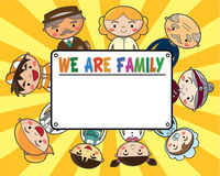 Family card Royalty Free Stock Image
