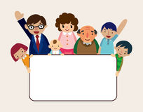 Family Card Royalty Free Stock Images